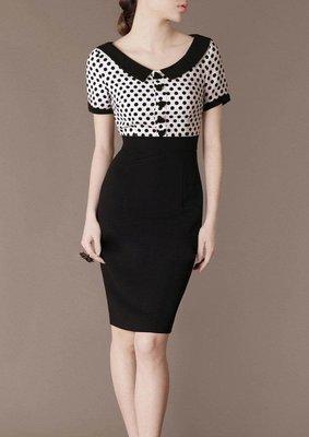Polka Dot Dresses Hepburn Style