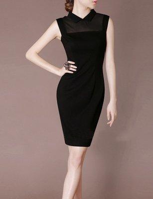 Mini Black Dress Retro Mandarin Collar Dancing Dress