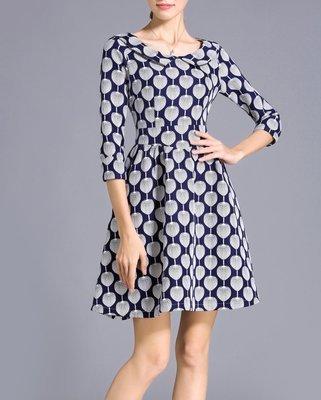 Cute Plus Size A Line Retro Dresses Blue