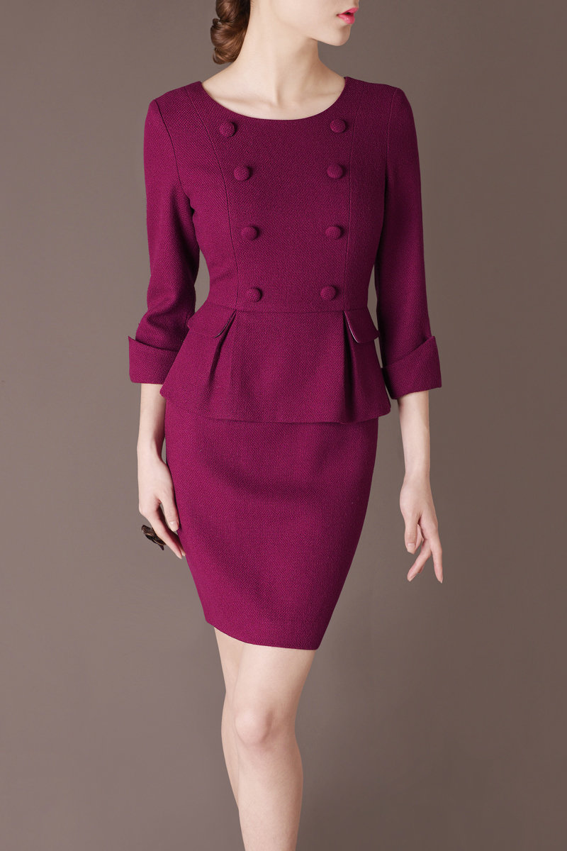 Winter Dress Elegant Outfit Work Dresses Customisable