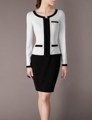 Women Dress for Work Made to measure Black and White