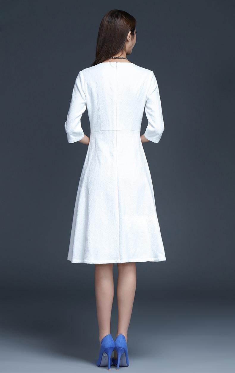 White A Line Dress Plus Size Midi Dress