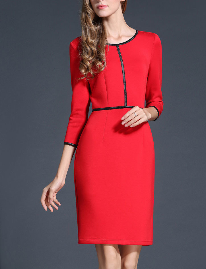 Red Office Wear Winter Dress Outfits