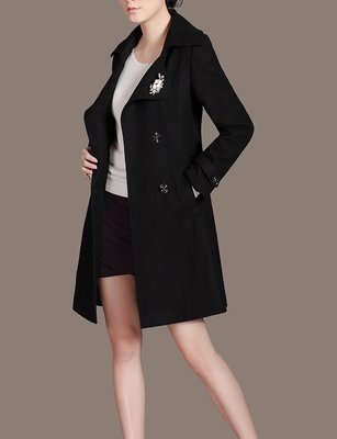 Black Wool Jacket for Women