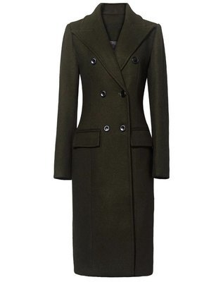 Emerald Green Wool Dress Coat