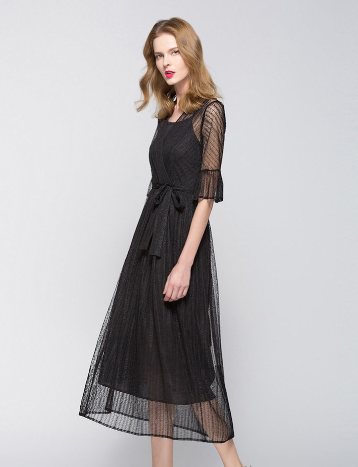 Elegant Black Full Length Dresses