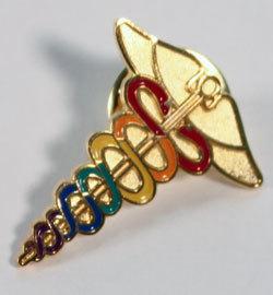Caduceus Pin--Rainbow 0000004
