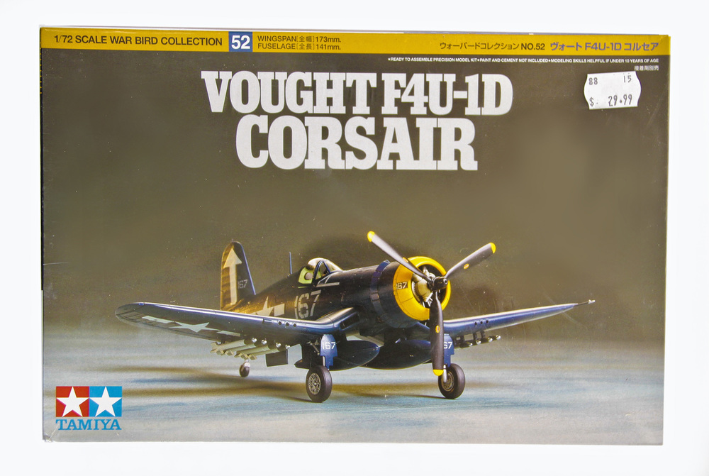 F4U Corsair Plastic Model Aircraft Kit