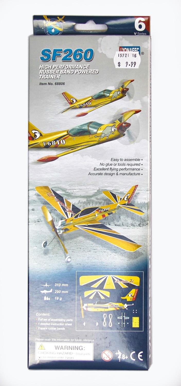 SF260 Rubber Band Powered Aeroplane