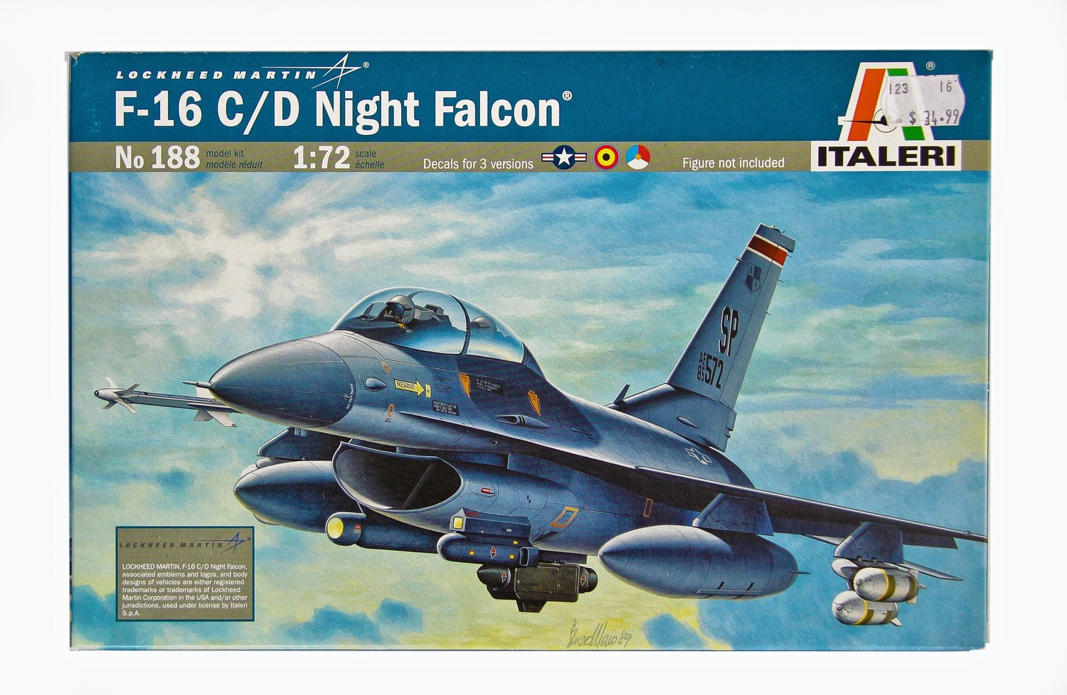 F-16 Plastic Model Aircraft Kit