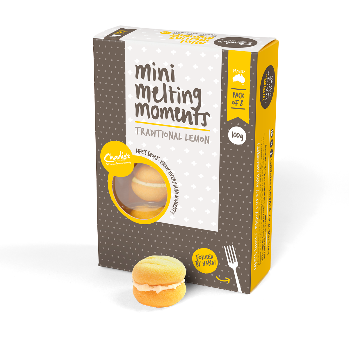 Charlie's Traditional Lemon Mini Melting Moments 100g