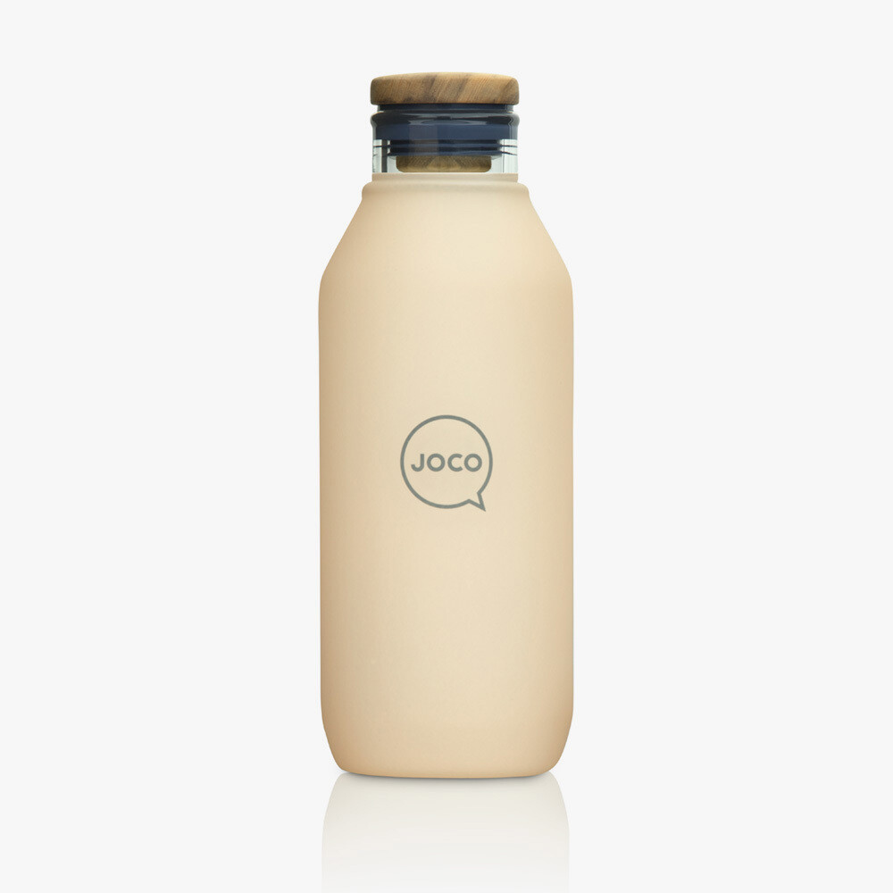 JOCO 20oz Velvet Grip Reusable Glass Flask - Amberlight