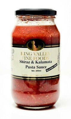 King Valley Fine Foods Shiraz & Kalamata Pasta Sauce 500ml