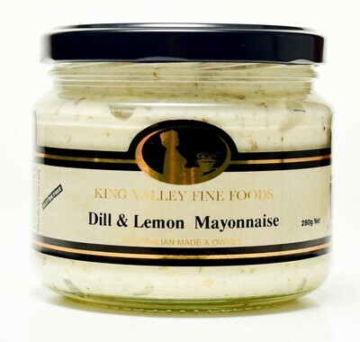 King Valley Fine Foods Dill & Lemon Mayonnaise 280g