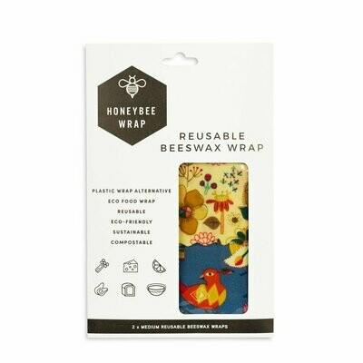 Honeybee Wraps - Medium Wrap (Twin Pack)