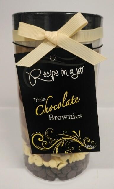 Recipe in a Jar - Triple Choc Brownie Mix Lrg 860g