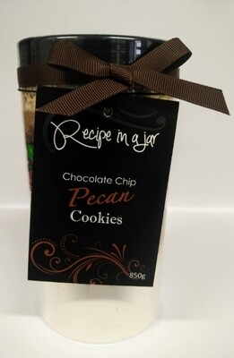 Recipe in a Jar - Choc Chip Pecan Cookie Mix 850g