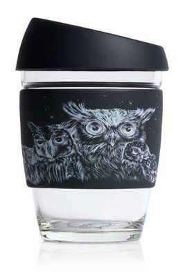 JOCO 12oz Reusable Glass Cup (Mug Size) Artist Series - Jen Lobo