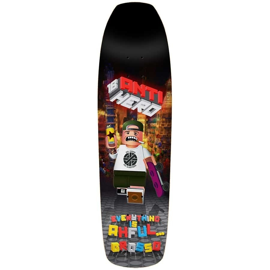 **SIGNED** Anti Hero Jeff Grosso Ahful Deck  9.25x32.75