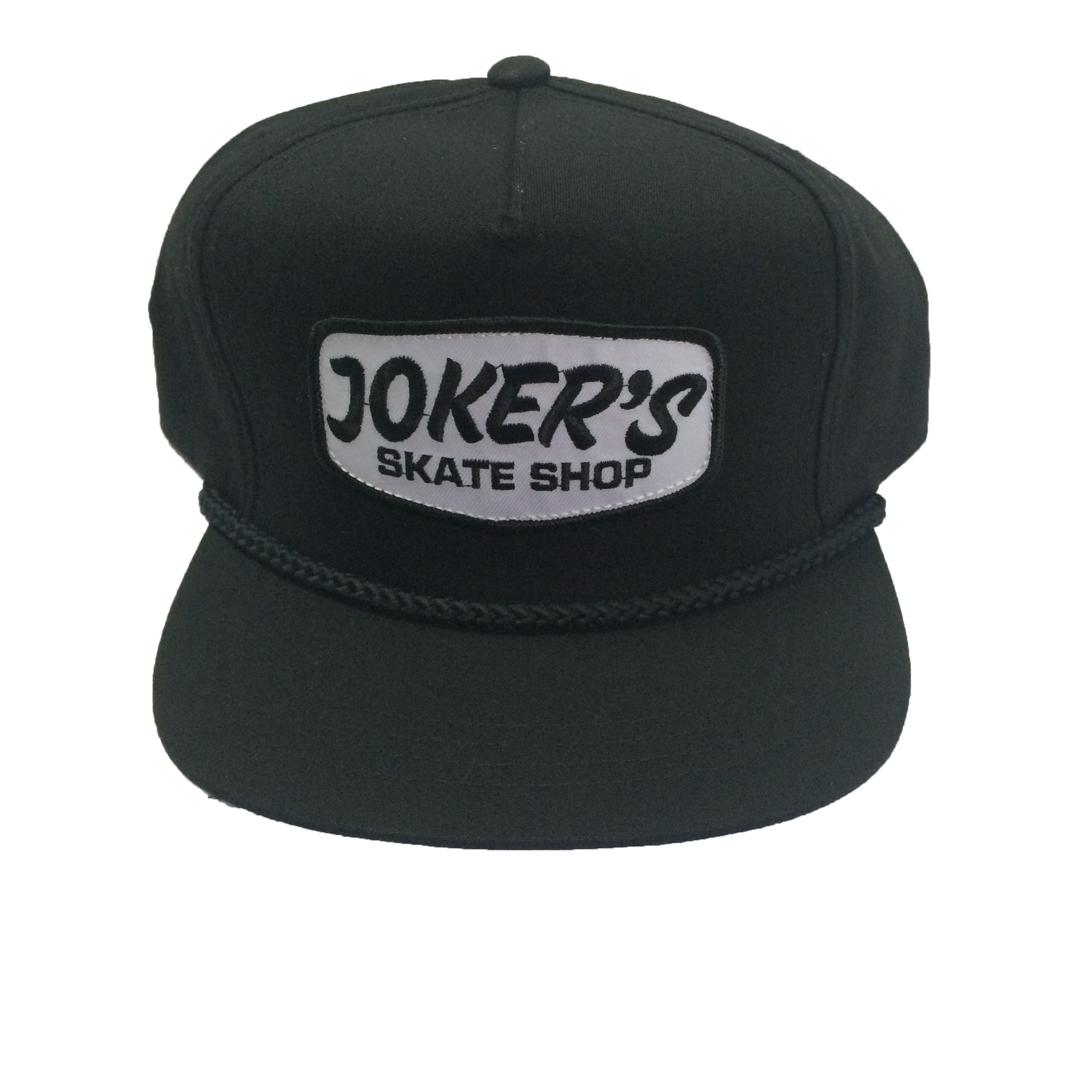 Jokers Classic Logo Patch Rope Hat Black