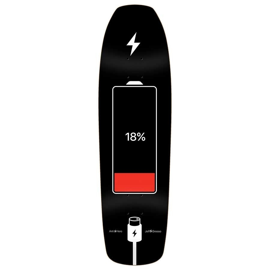 **SIGNED** Anti Hero Jeff Grosso Battery Life Deck  9.25x32.9