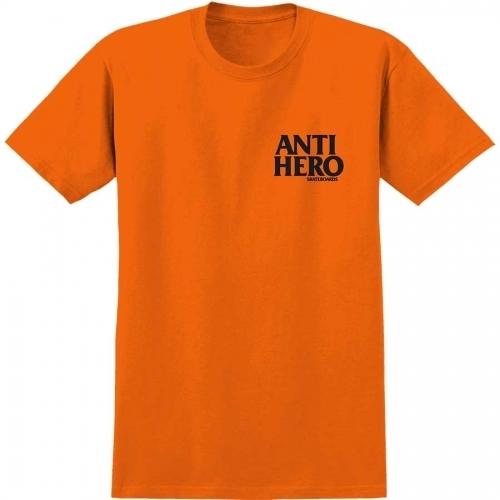 Anti Hero Lil Black Hero T-Shirt Orange/Black