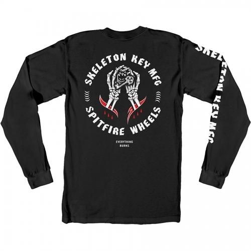 Spitfire X Skeleton Key Long Sleeve T-Shirt - Black