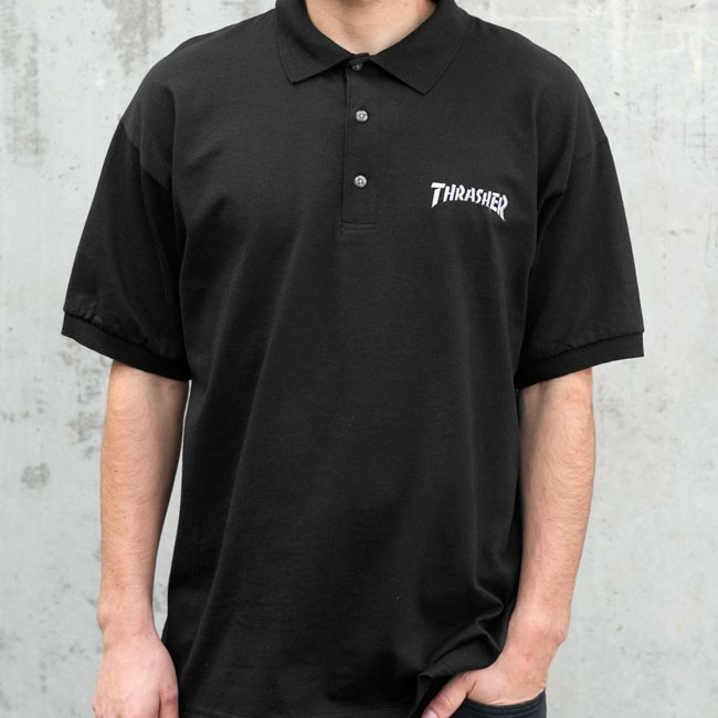 Thrasher Embroidered Logo Polo Shirt