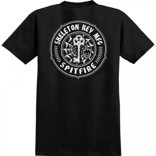 Spitfire X Skeleton Key Pocket T-Shirt - Black/White