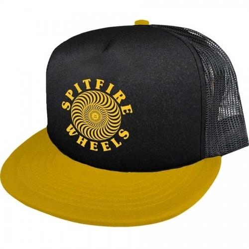 Spitfire OG Classic Trucker Hat - Black/Yellow