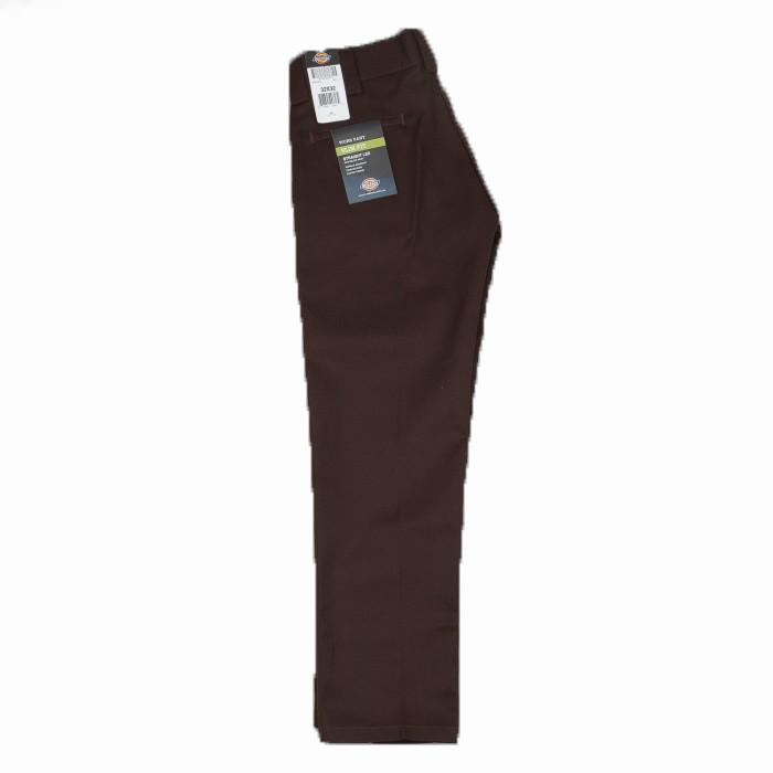Dickies Slim Fit Straight Leg Work Pant Chocolate Brown