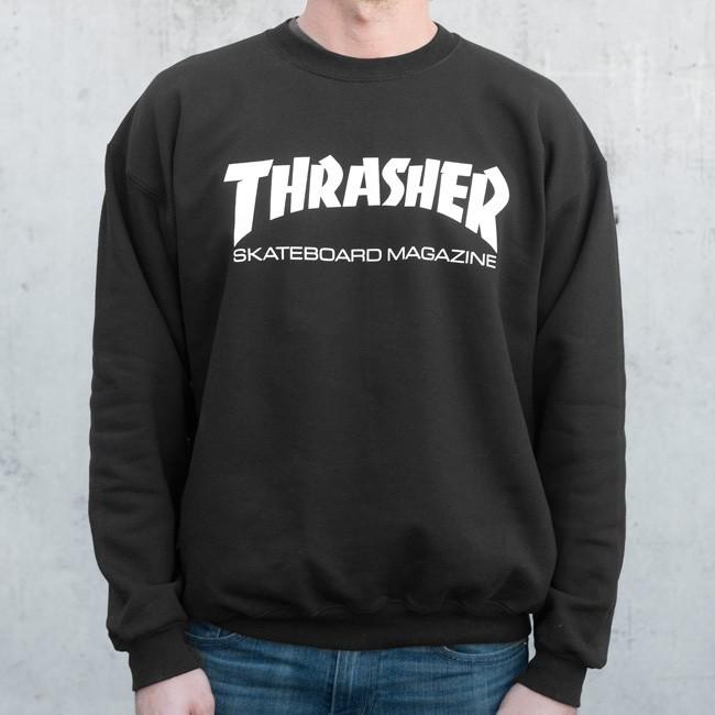 Thrasher Skate Mag Crewneck Black