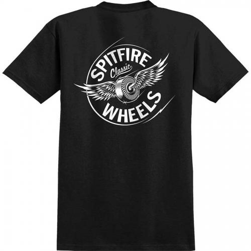 Spitfire Flying Classic Pocket T-Shirt - Black/White