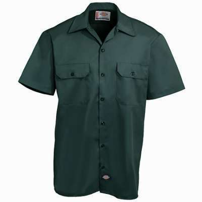 Dickies Short Sleeve Work Shirt Hunter Green