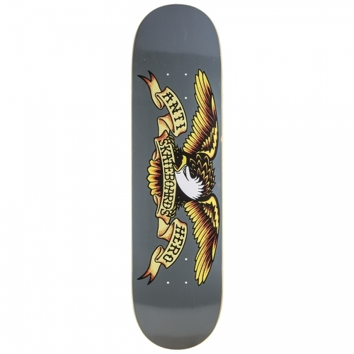 Anti Hero Classic Eagle LARGER Deck  Grey 8.25x32