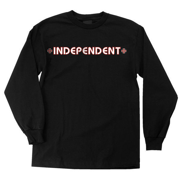 Independent Bar/Cross L/S T Shirt Black