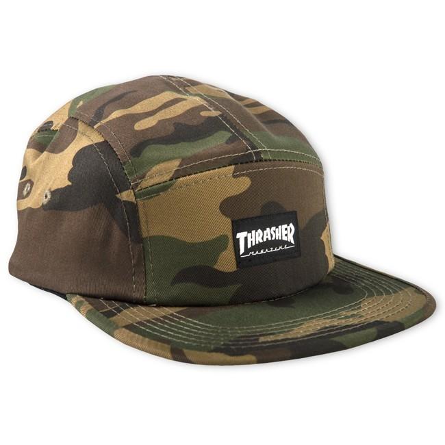Thrasher 5 Panel Hat - Camo