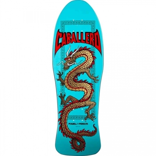 Powell Peralta Caballero Chinese Dragon Re-Issue Deck  Turquoise 10x30