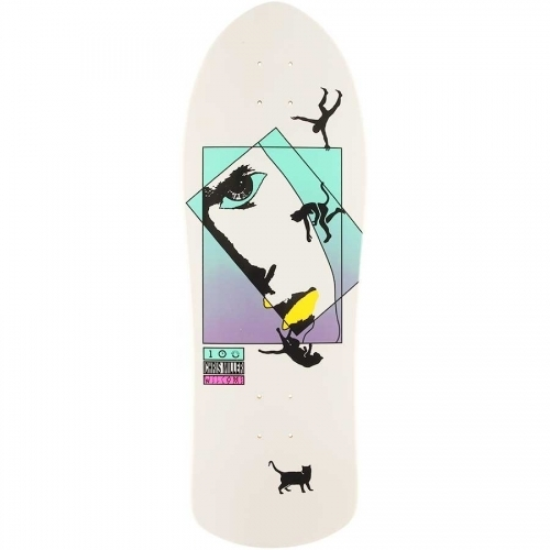Welcome Chris Miller Faces on Crossbone Deck  White Dip 10x30