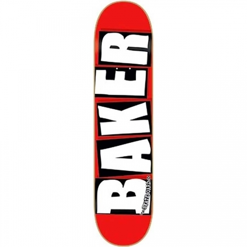 Baker Brand Logo Deck  Red/White 8.25x32