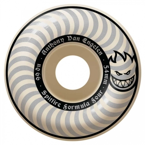 Spitfire AVE Formula Four Classic Wheels  White Out 54mm 99a