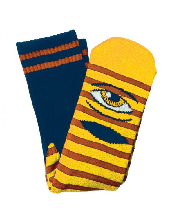 Toy Machine Sect Eye Stripe Socks Yellow Rust