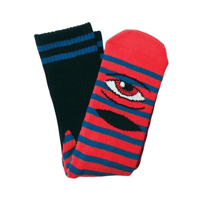 Toy Machine Sect Eye Stripes Socks Blue/Red