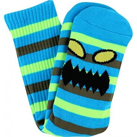Toy Machine Monster Stripe Sock Blue/Neon