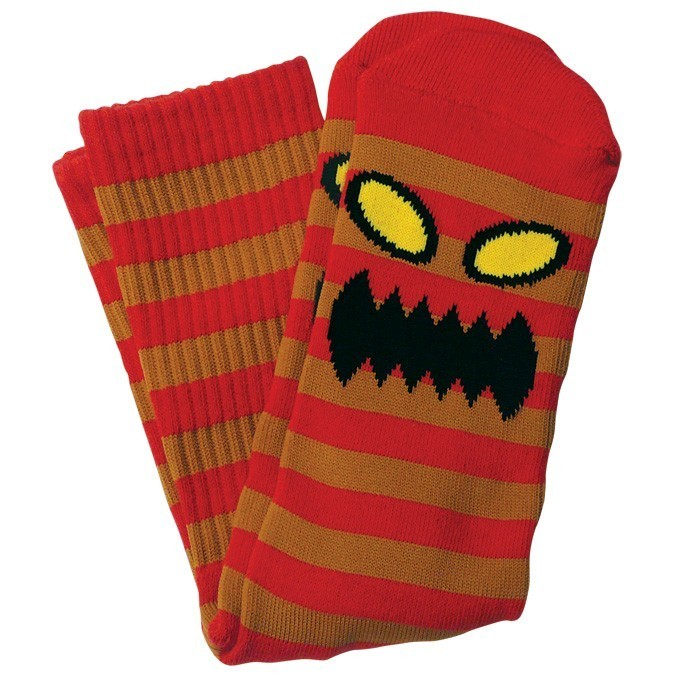 Toy Machine Monster Stripe Socks Red/Brown