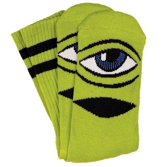 Toy Machine Sect Eye Socks Green