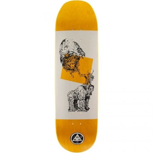 Welcome Wax Gorilla on Baculus Deck  White/Black 8.75