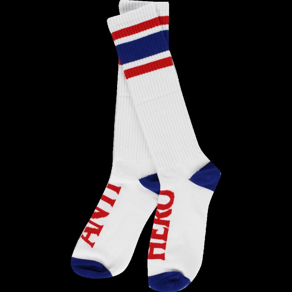 Anti Hero Stryper Calf Socks White/Navy/Red