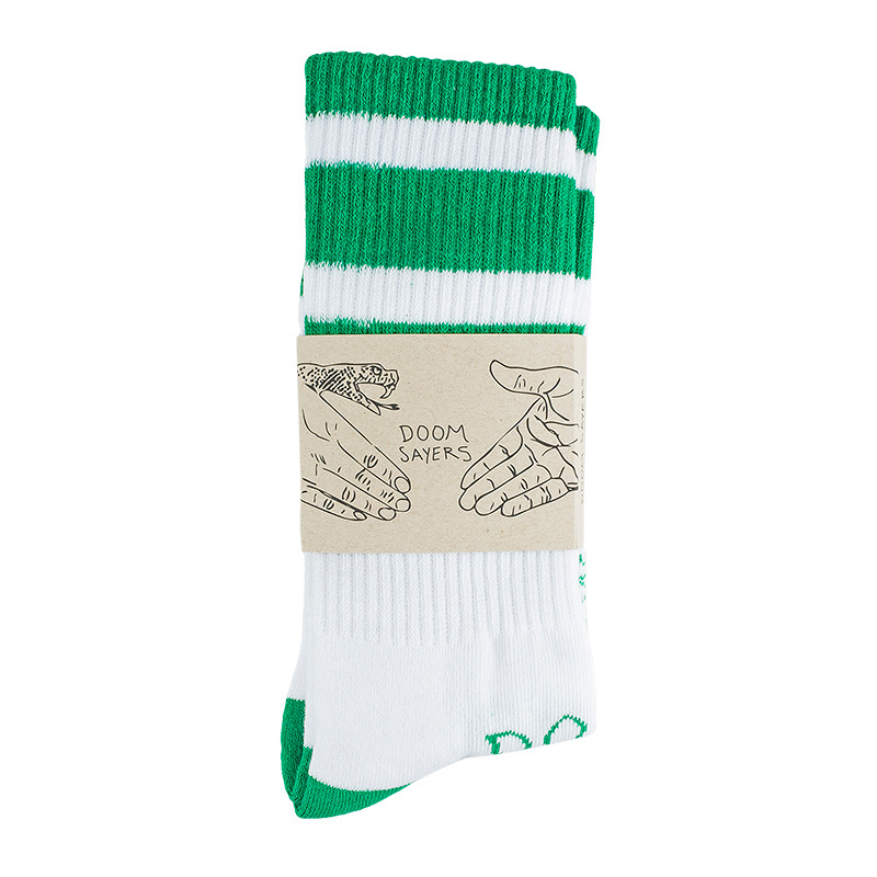 Doom Sayers Snake Shake Socks Green