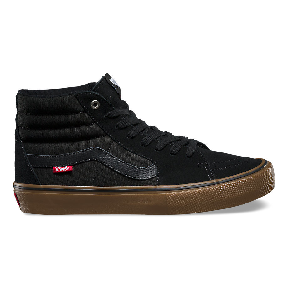 Vans Sk8 High Pro Shoe Black/Gum